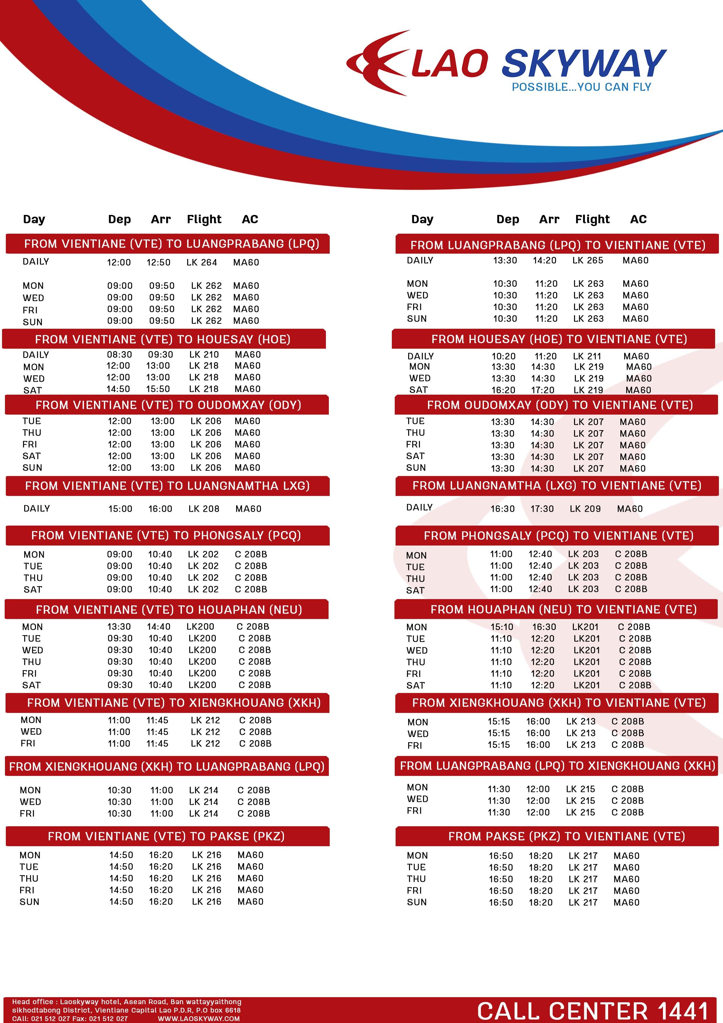 Flight schedule1 1