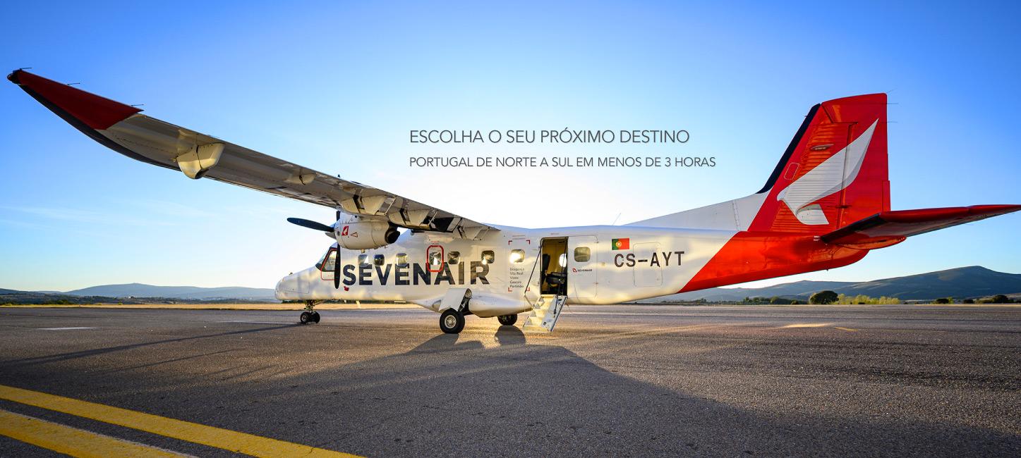 Sevenair Linha Regional Aérea de Bragança a Portimão