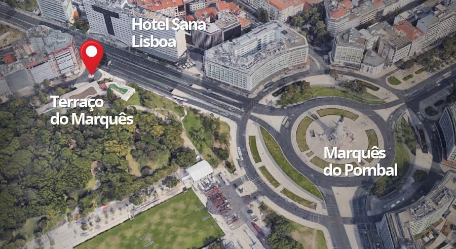 Ponto de Recolha do Serviço de Shuttle entre Lisboa e Cascais na Linha Aérea Regional SEVENAIR.