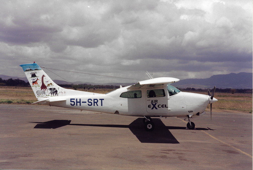 Air Excel's first aircraft' 5H-SRT' which was a Cessna 210.