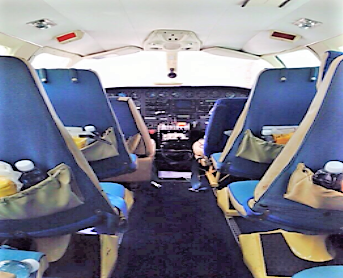 Cessna 404 from inside