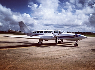 Cessna 404 from outside