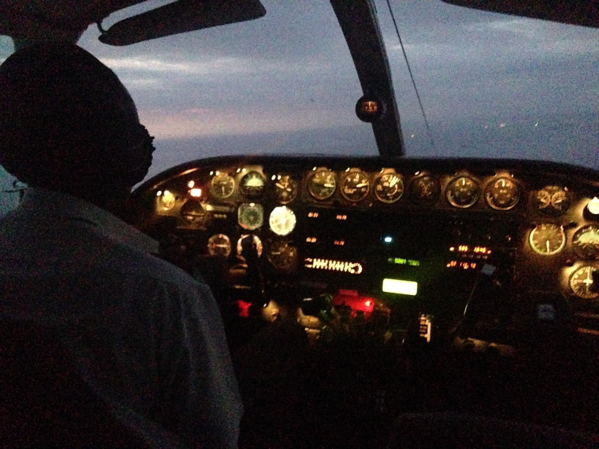 Night Charter with Cessna 404