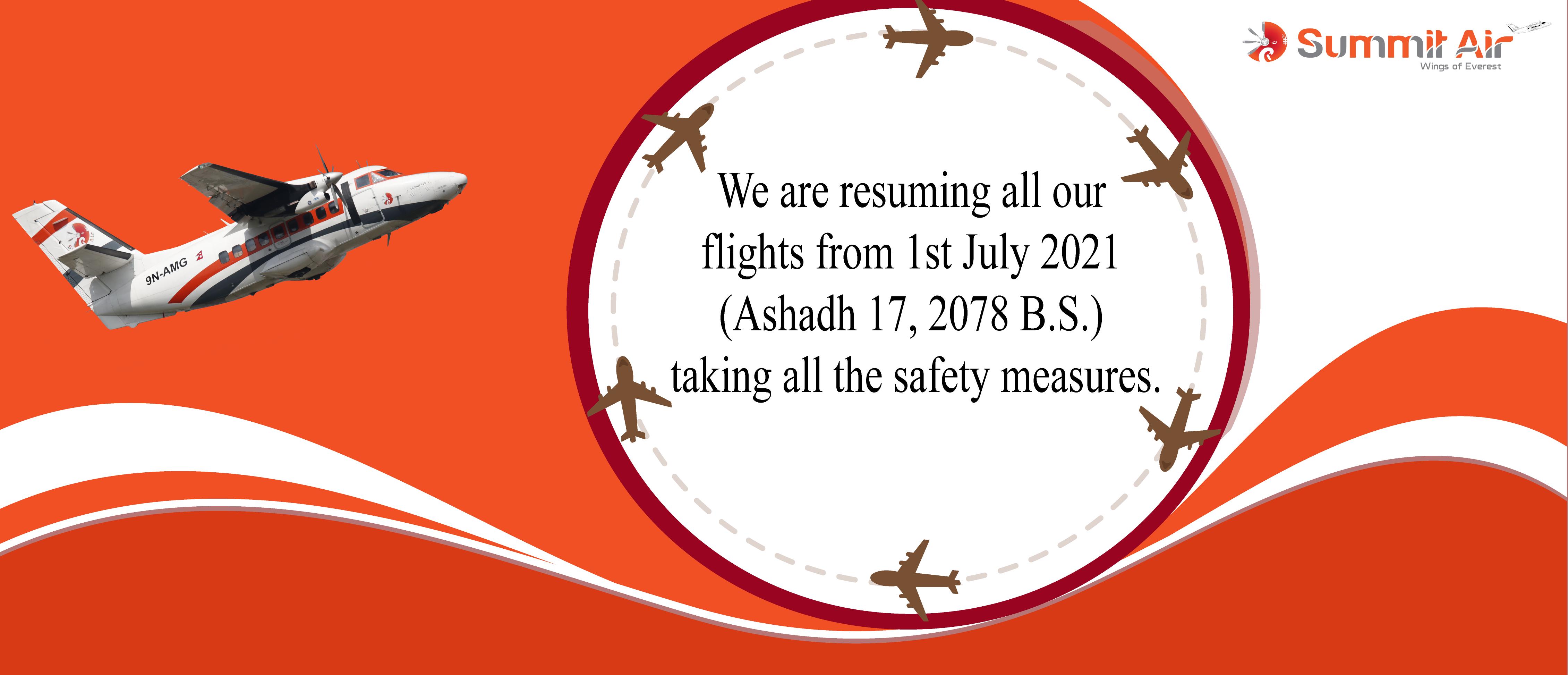 Summit Air Announce Resume Flight
