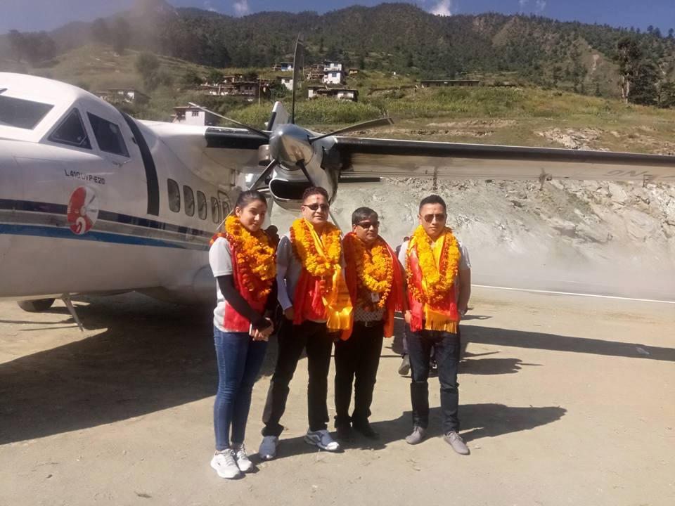 Summit Air successfully operated test landing flight at Dolpo airport