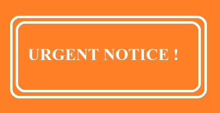Urgent Notice About Extension