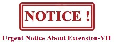 Urgent Notice About Extension VII