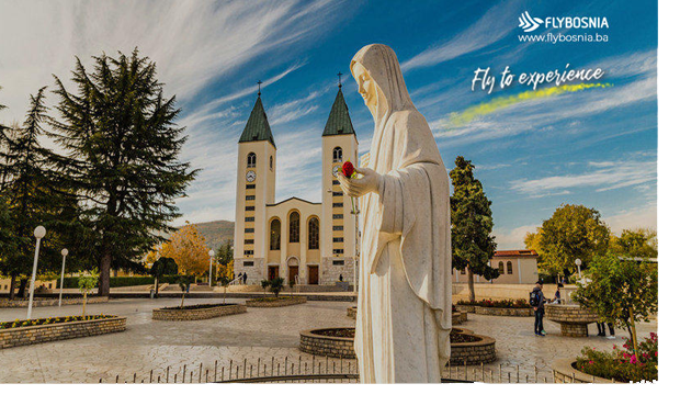 FLYBOSNIA directly connects Naples and Mostar bringing pilgrims to Medjugorje
