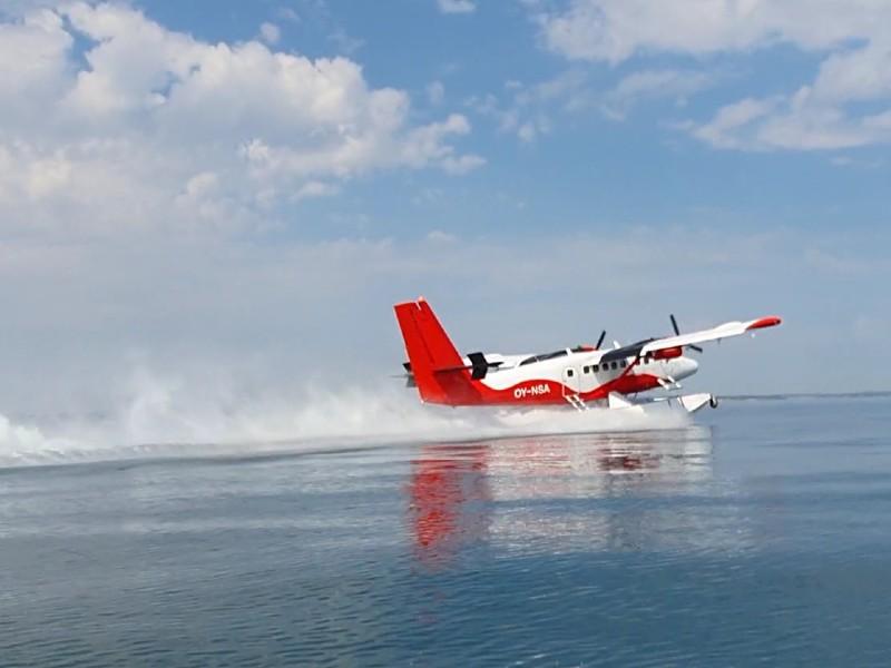 Fly takeoff AC med skumsprøjt