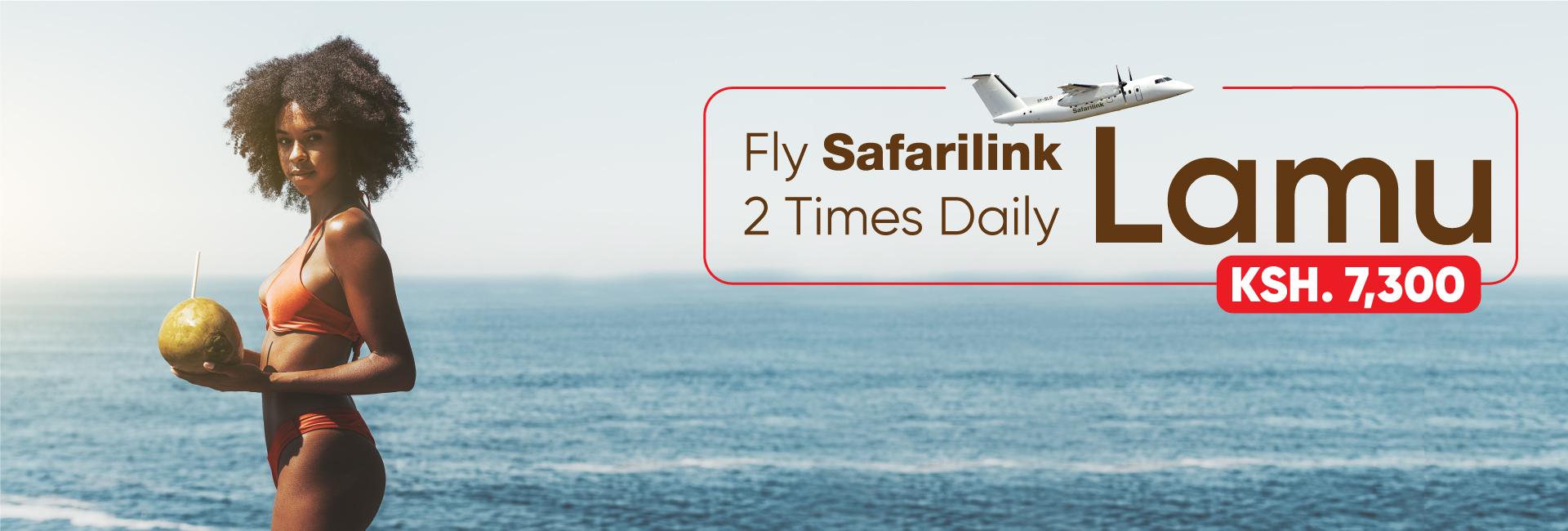 Fly Safarilink To LamuIsland Deals