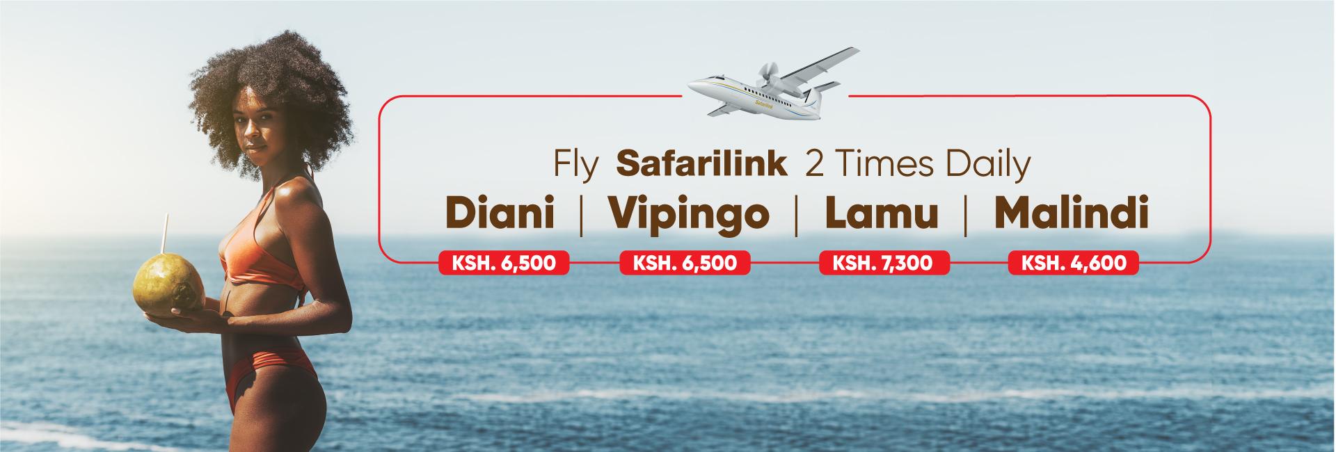Fly Safarilink To the beach Website