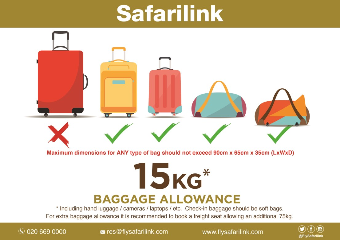 43475abd2a Safarilink Baggage Allowance