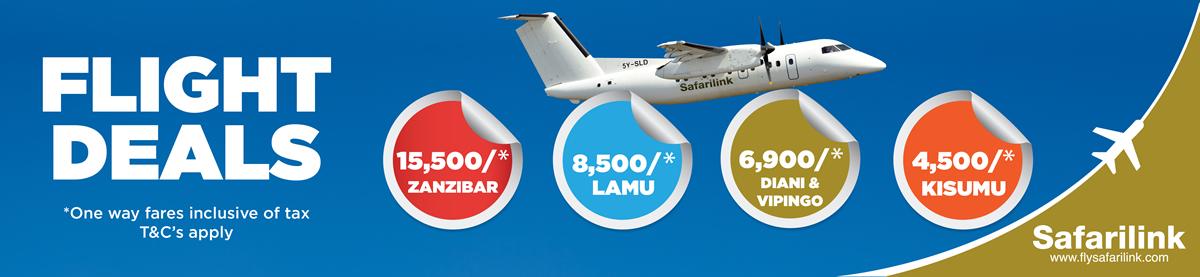 Flysafarilink January deals'19