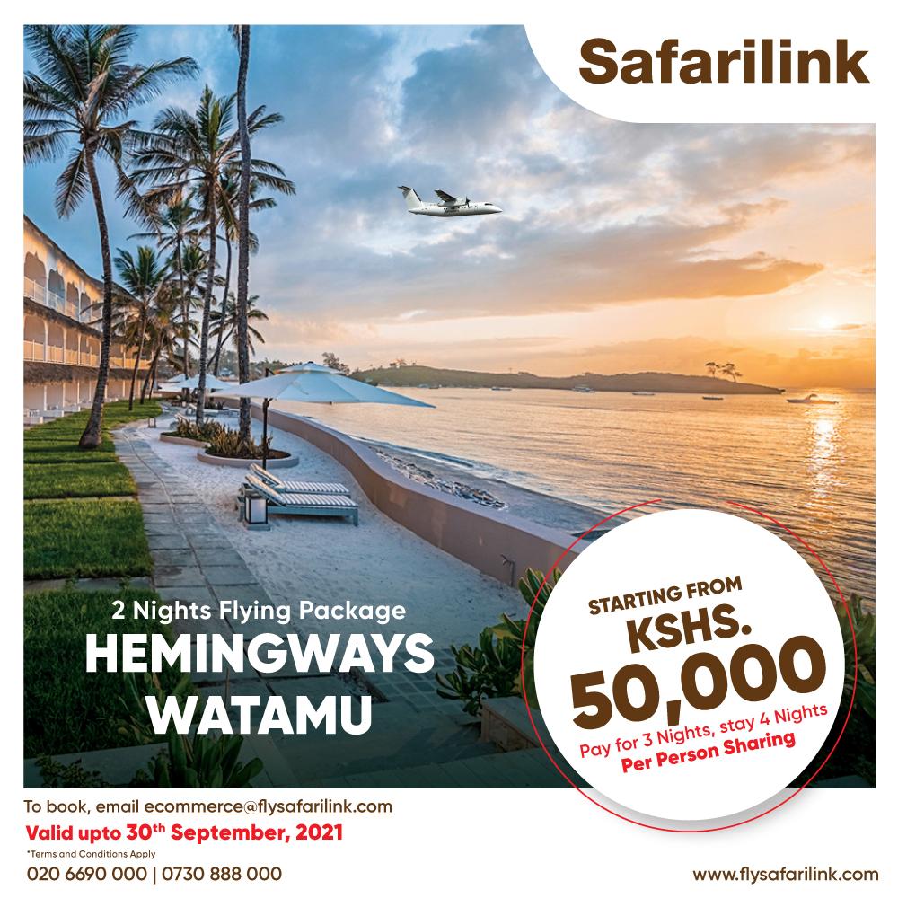 Safarilink Flying Package Hemingways Watamu Hotel Offers 2