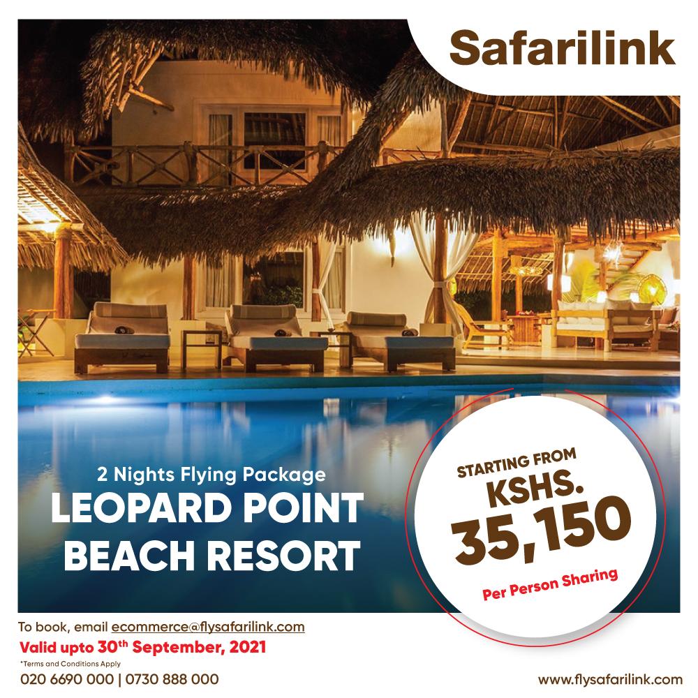 Safarilink Flying Package Leopard Point Beach Resort Hotel Offers