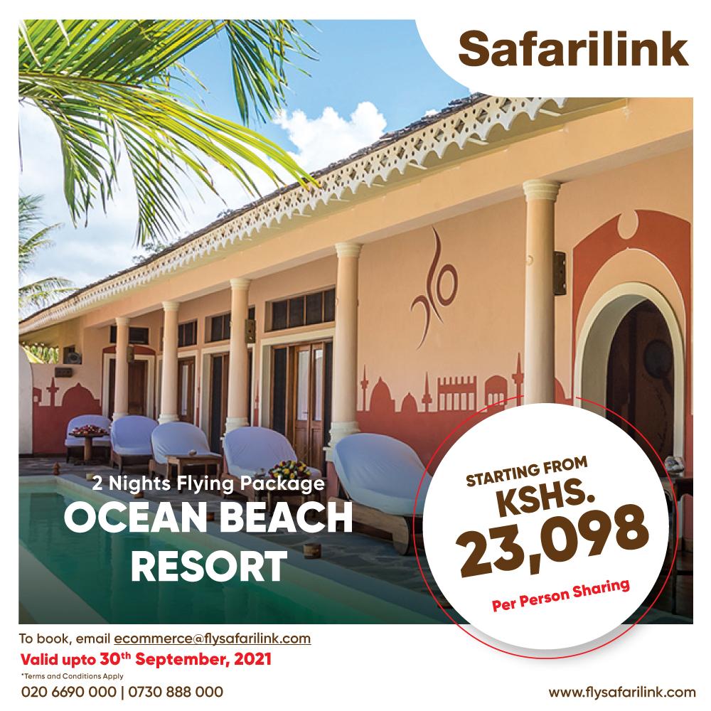 Safarilink Flying Package Ocean Beach Resort Hotel Offers