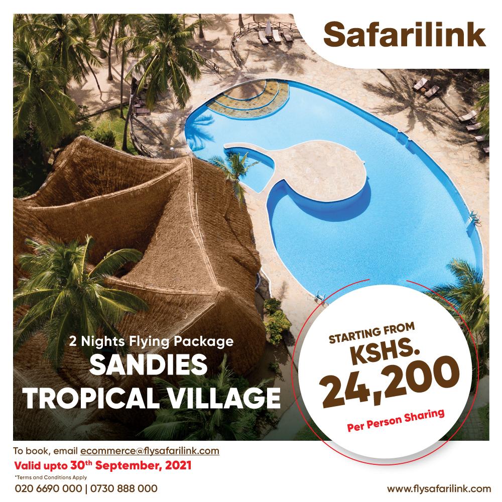 Safarilink Flying Package Sandies Tropical Village Hotel Offers