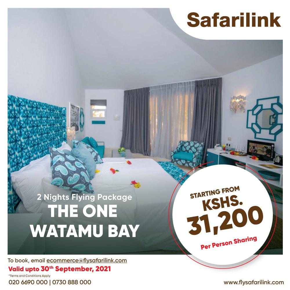 Safarilink Flying Package The One Watamu Bay Hotel Offers