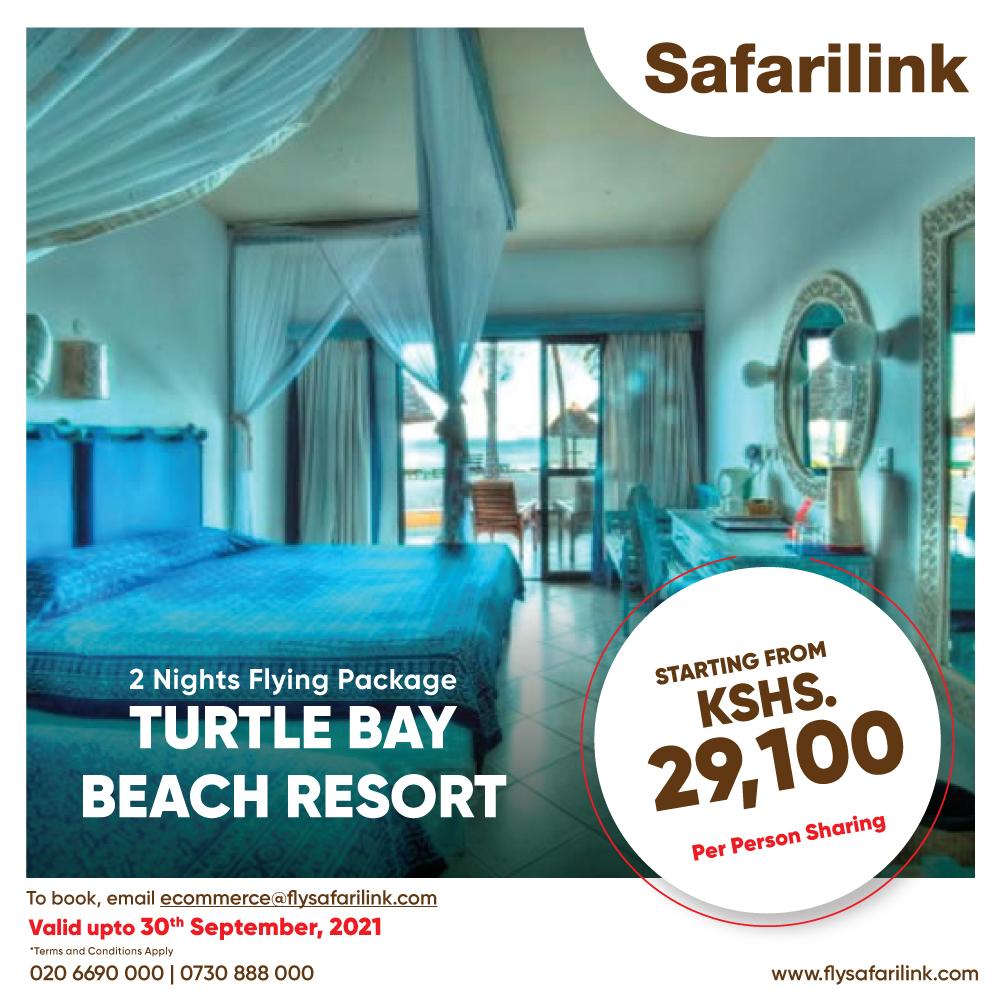 Safarilink Flying Package Turtle Bay Beach Resort Hotel Offers
