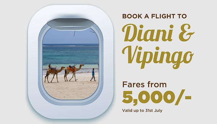 Safarilink Cheap flight deals to diani and Vipingo