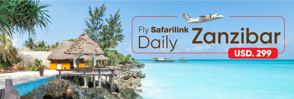 fly safarilink daily nairobi to zanzibar