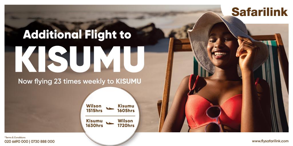 fly to kisumu 23 times weekly