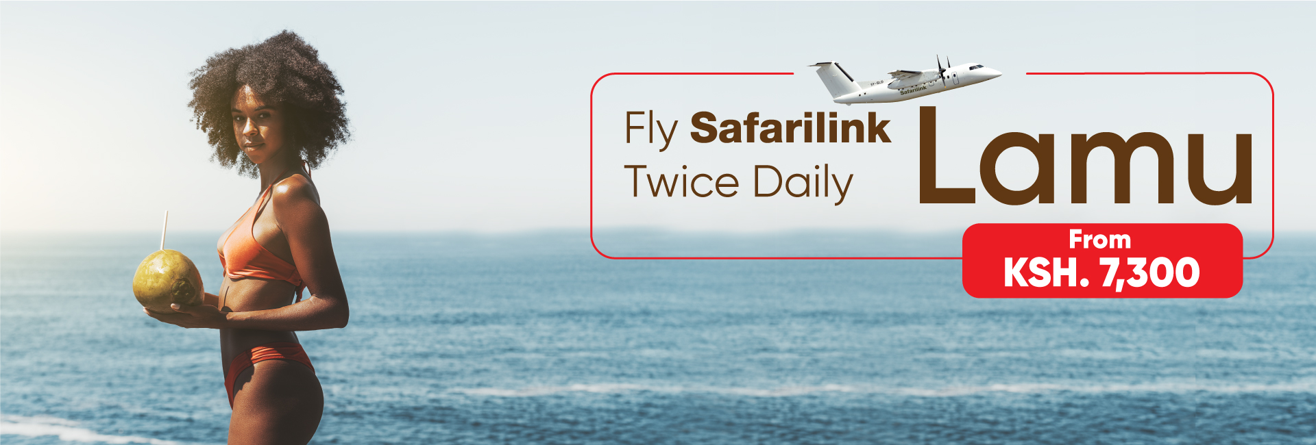 Fly Safarilink To Lamu Island' Kenya
