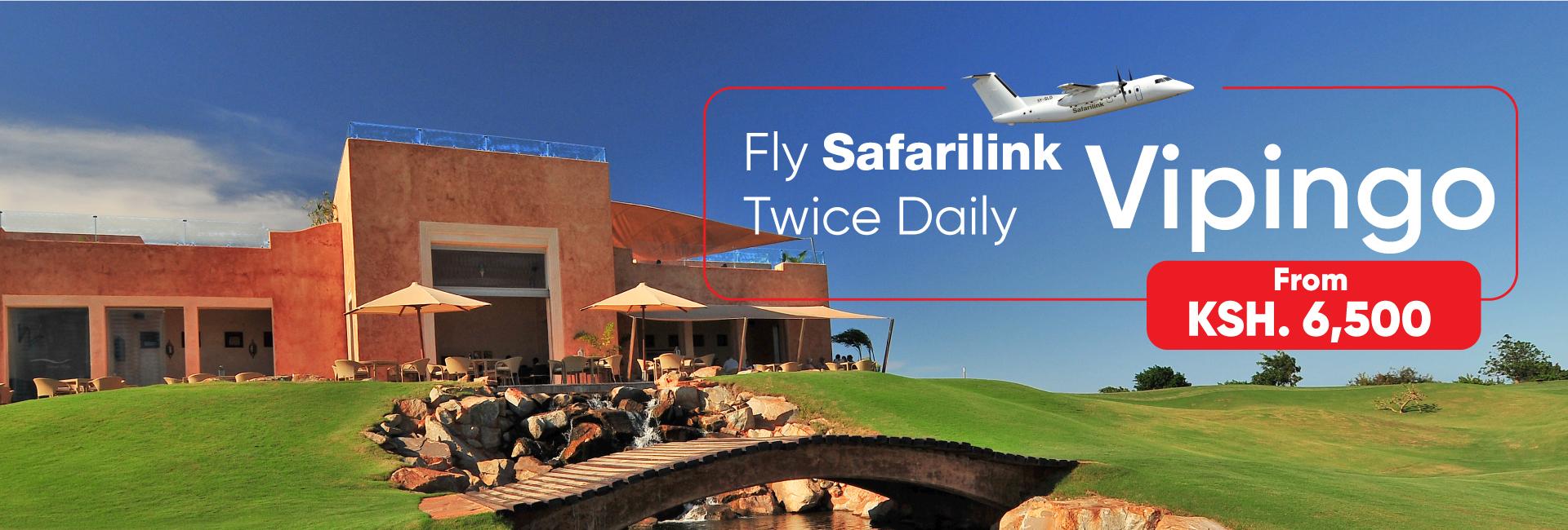 fly safarilink daily from nairobi to Vipingo