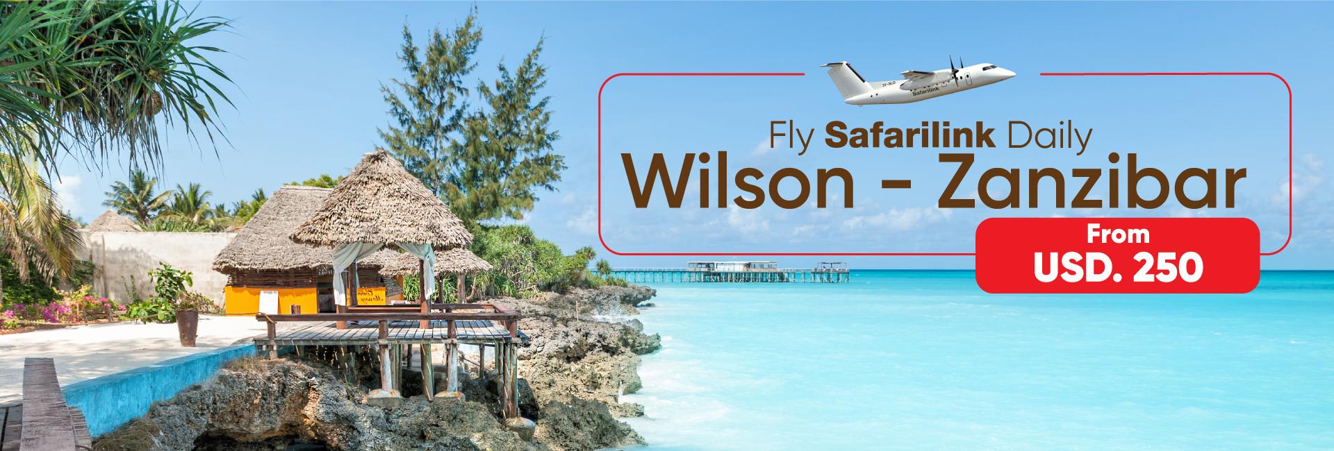 fly safarilink daily from nairobi to Zanzibar Island