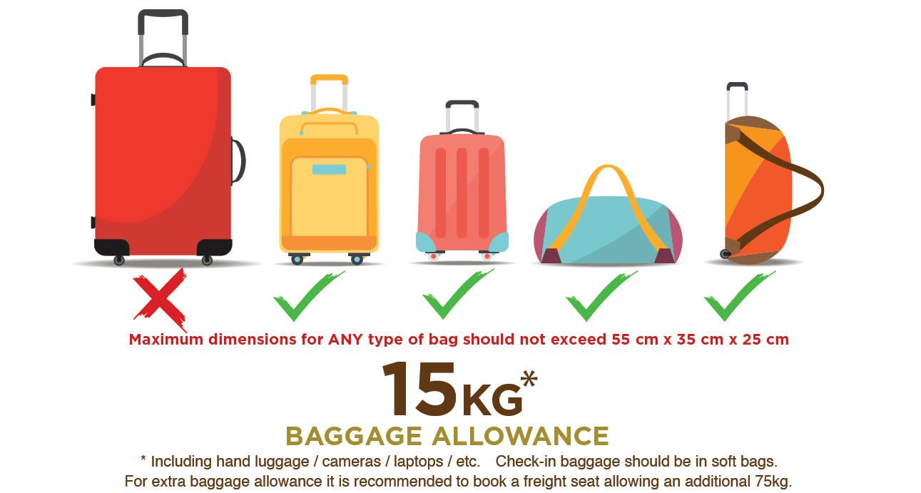 safarilink baggage allowance