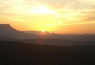 sunset on rock1